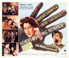 Sorry Wrong Number - 22 x 28 Movie Poster - Half Sheet Style A