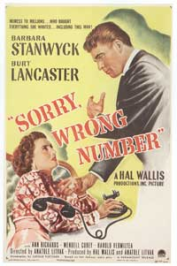 Sorry Wrong Number - 11 x 17 Movie Poster - Style A