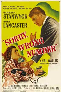 Sorry Wrong Number - 27 x 40 Movie Poster - Style A