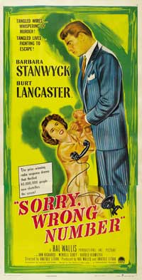 Sorry Wrong Number - 14 x 36 Movie Poster - Insert Style A