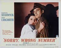 Sorry Wrong Number - 11 x 14 Movie Poster - Style A