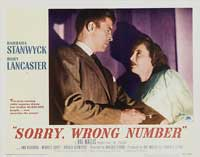 Sorry Wrong Number - 11 x 14 Movie Poster - Style C