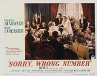 Sorry Wrong Number - 11 x 14 Movie Poster - Style D