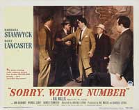 Sorry Wrong Number - 11 x 14 Movie Poster - Style F