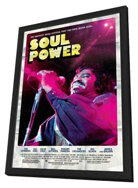 Soul Power - 27 x 40 Movie Poster - Style B - in Deluxe Wood Frame
