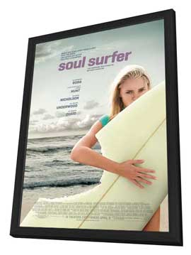 Soul Surfer - 27 x 40 Movie Poster - Style A - in Deluxe Wood Frame