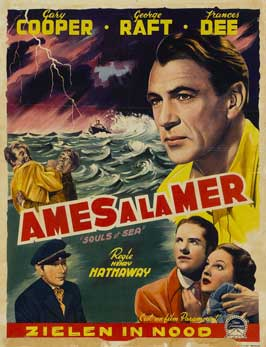 Souls at Sea - 11 x 17 Movie Poster - Belgian Style A