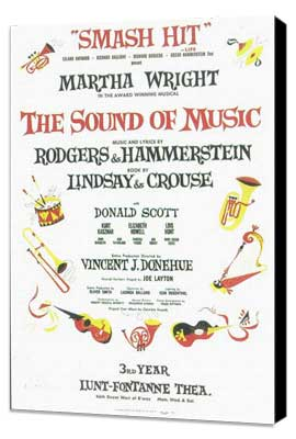 Sound Of Music, The (Broadway) - 11 x 17 Poster - Style B - Museum Wrapped Canvas