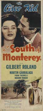 South of Monterey - 14 x 36 Movie Poster - Insert Style A
