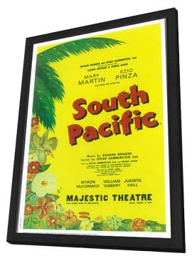 South Pacific (Broadway) - 11 x 17 Poster - Style A - in Deluxe Wood Frame