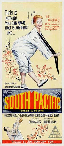 South Pacific - 13 x 30 Movie Poster - Australian Style A