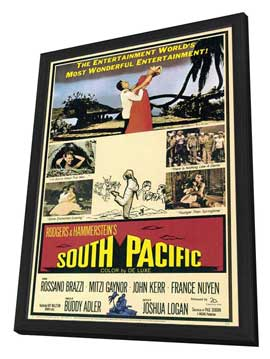 South Pacific - 27 x 40 Movie Poster - Style A - in Deluxe Wood Frame