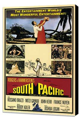 South Pacific - 11 x 17 Movie Poster - Style A - Museum Wrapped Canvas