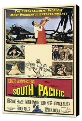 South Pacific - 27 x 40 Movie Poster - Style A - Museum Wrapped Canvas