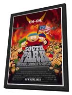 South Park: Bigger, Longer and Uncut - 27 x 40 Movie Poster - Style A - in Deluxe Wood Frame