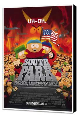 South Park: Bigger, Longer and Uncut - 27 x 40 Movie Poster - Style A - Museum Wrapped Canvas