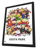 South Park - 11 x 17 TV Poster - Style A - in Deluxe Wood Frame