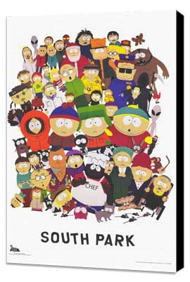 South Park - 11 x 17 TV Poster - Style A - Museum Wrapped Canvas