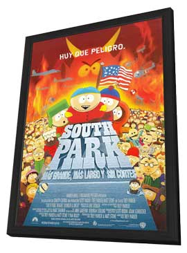South Park - 11 x 17 Movie Poster - Style A - in Deluxe Wood Frame