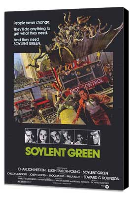 Soylent Green - 27 x 40 Movie Poster - Style A - Museum Wrapped Canvas