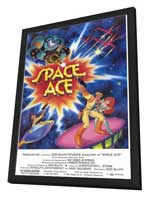 Space Ace - Video Game - 27 x 40 Movie Poster - Style A - in Deluxe Wood Frame