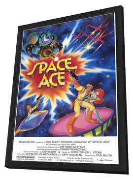Space Ace - Video Game - 11 x 17 Movie Poster - Style A - in Deluxe Wood Frame