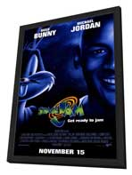 Space Jam - 11 x 17 Movie Poster - Style B - in Deluxe Wood Frame