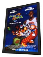 Space Jam - 27 x 40 Movie Poster - Style A - in Deluxe Wood Frame