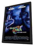 Space Jam - 27 x 40 Movie Poster - Style D - in Deluxe Wood Frame