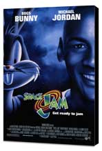 Space Jam - 27 x 40 Movie Poster - Style D - Museum Wrapped Canvas