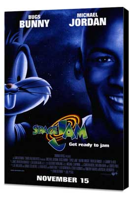 Space Jam - 11 x 17 Movie Poster - Style B - Museum Wrapped Canvas