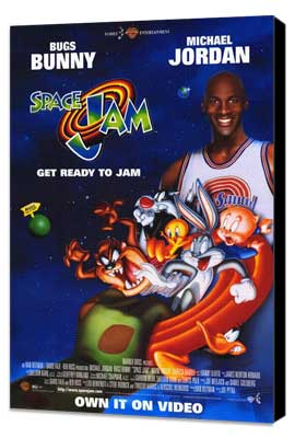 Space Jam - 27 x 40 Movie Poster - Style A - Museum Wrapped Canvas