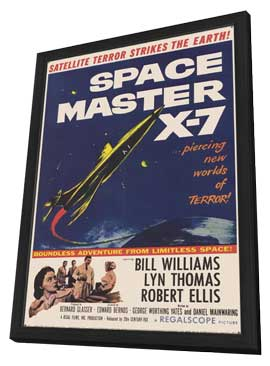 Space Master X-7 - 11 x 17 Movie Poster - Style A - in Deluxe Wood Frame