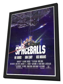 Spaceballs - 27 x 40 Movie Poster - Style A - in Deluxe Wood Frame