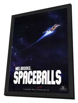Spaceballs - 27 x 40 Movie Poster - Style B - in Deluxe Wood Frame