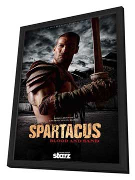 Spartacus: Blood and Sand (TV) - 11 x 17 TV Poster - Style A - in Deluxe Wood Frame