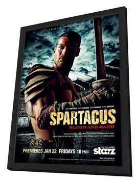 Spartacus: Blood and Sand (TV) - 11 x 17 TV Poster - Style D - in Deluxe Wood Frame