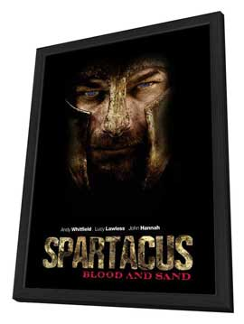 Spartacus: Blood and Sand (TV) - 27 x 40 TV Poster - Style A - in Deluxe Wood Frame