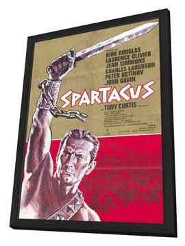 Spartacus - 11 x 17 Movie Poster - German Style A - in Deluxe Wood Frame