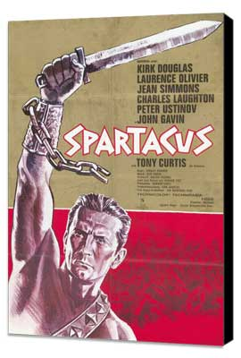 Spartacus - 11 x 17 Movie Poster - German Style A - Museum Wrapped Canvas