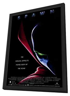 Spawn - 11 x 17 Movie Poster - Style B - in Deluxe Wood Frame