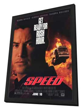 Speed - 27 x 40 Movie Poster - Style A - in Deluxe Wood Frame