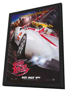 Speed Racer - 11 x 17 Movie Poster - Style B - in Deluxe Wood Frame