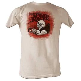 Speed Racer - Gray and Red Speed White T-Shirt