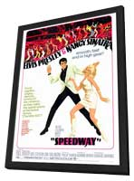 Speedway - 27 x 40 Movie Poster - Style A - in Deluxe Wood Frame