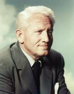 Spencer Tracy - Spencer Tracy In Black Coat and Tie