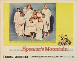 Spencer's Mountain - 22 x 28 Movie Poster - Half Sheet Style B