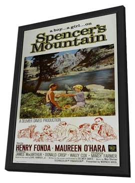 Spencer's Mountain - 11 x 17 Movie Poster - Style B - in Deluxe Wood Frame