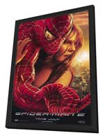 Spider-Man 2 - 11 x 17 Movie Poster - Style D - in Deluxe Wood Frame