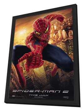 Spider-Man 2 - 27 x 40 Movie Poster - Style E - in Deluxe Wood Frame
